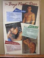 Vintage 1997 The Boys Next Door hot guys poster   5268