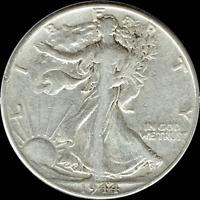 "A 1944 P Walking Liberty Half Dollar 90% SILVER US Mint ""Average Circulation"""