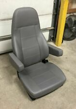 M2 FREIGHTLINER SEMI TRUCK GRAY VINYL NATIONAL AIR RIDE BUCKET SEAT with ARMS