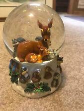 DISNEY BAMBI Water Globe Thumper Musical glitter Snow Globe Cantique De Noel
