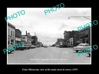 OLD LARGE HISTORIC PHOTO OF FOLEY MINNESOTA, THE MAIN STREET & STORES c1955
