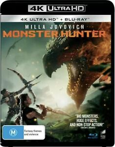 Monster Hunter 4K Ultra HD + Blu-ray BRAND NEW Region B