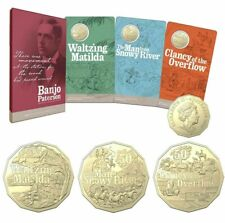 Banjo Paterson 50c Uncirculated 3-Coin Set