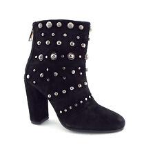 New BADGLEY MISCHKA Size 6 KURT Black Studded Ankle Boots Booties