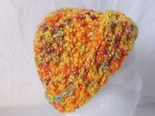 "Yellow Crocheted Hat/Beanie Handmade by Pizazz Creations-17"" Around-9 3/4"" Long"