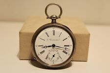 "Open Face Pocket Watch ""1/2 Chronometer"" Antique Rare Men'S Solid Silver 800"