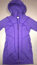 Athleta Hoodie Zip Up Stretch Purple Running Yoga Walking XX-Small (2X Small)