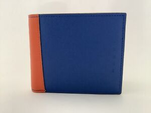 New Men's Marni Tricoloured Calfskin Leather Bifold Wallet with Coin Purse