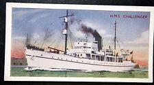 HMS CHALLENGER   Royal Navy Survey Ship     Vintage Colour Card  # VGC
