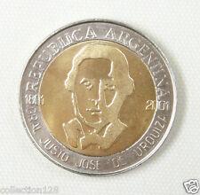 Argentina 1 Peso Coin 2001 UNC, General Urquiza