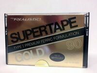 REALISTIC SUPERTAPE GOLD 90 BLANK AUDIO CASSETTE TAPE NEW RARE USA MADE