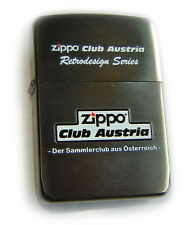 ZIPPO Club FLAME AUSTRIA LIMITED EDITION-75 Rep.1941 Black ICE 2-SIDE Mega RARE!