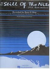 """BOYZ II MEN """"IN THE STILL OF THE NITE"""" SHEET MUSIC-PIANO/VOCAL/GUITAR/CHORDS-NEW"""