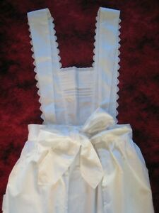 Cream Frilly Apron Front Pockets Dress up Victorian, Downton Abbey