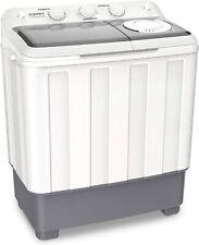 Portable Compact Mini Washing Machine 26.4 lbs w/ Drain Pump Twin Tub Semi-Auto