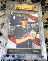 CLIFF LEE 2002 Donruss Studio SP Rookie Card RC /1500 BGS 9.5 GEM MINT INDIANS