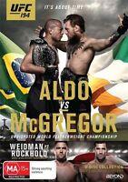 UFC #194 - Aldo Vs Mcgregor (DVD, 2016, 2-Disc Set) Region 4