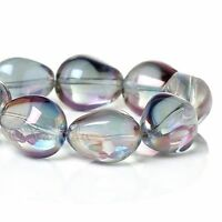 20 Or 50PCs Gray Aurora Borealis 15mm Wholesale Oval AB Glass Beads G0296-10