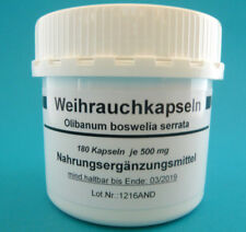 Weihrauchkapseln 180 vegi Kapseln Weihrauch Boswellia serrata (27,66€/100 g)