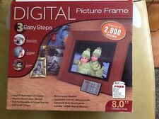 "Smartparts Digital Picture Frame Model #SPDPF84M Wood 8""Viewable Image OptiPix."