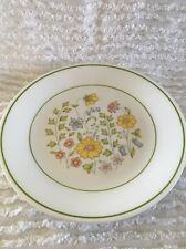 5 lunch plates Corelle Meadow Dinnerware Vintage spring flowers 2020-13  green