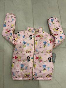 NWT Disney Store Princess Lightweight Puffy Puffer Jacket Girl SZ 4