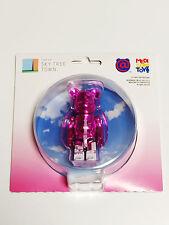 MEDICOM TOY TOKYO SKY TREE TOWN 100% BE@RBRICK Metallic Pink Phone Strap