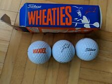 Sleeve of 3 Wheaties Tiger Woods Titleist Golf Balls-Brand New In Package