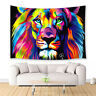 Watercolor Lion Tapestry Wall Hanging for Living Room Bedroom Dorm Decor