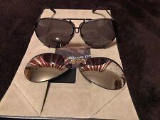 PORSCHE DESIGN Black Sunglasses INCLUDING  SPARE SILVER LENSES.