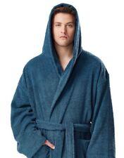ARUS Men's Hooded Mid-Calf Length Bathrobe 100% Turkish Cotton Terry Robe