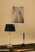 TISCHLAMPE LAMPENFUß GLAS LAMPE IMPRESSIONEN SHABBY CHIC ELEGANTER DEKO LAMPE