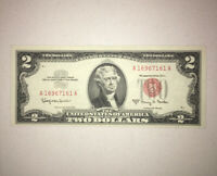 LIMITED QUANTITY - $2 CONSECUTIVE Red Seal Uncirculated Condition 1963 NICE NOTE