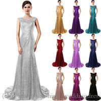Mermaid Sequined Bridesmaid Dresses Formal Long Evening Wedding Party Prom Gowns