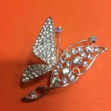 Unbranded Crystal Rose Gold Plated Costume Brooches & Pins