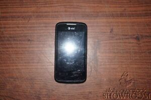 Used & Untested AT&T Huawei U8665 Fusion 2 Black Phone For Parts & Repairs Only