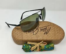 Maui Jim SANDALWOOD Men's AVIATOR Sunglasses POLAR Maui HT Lens 64mm HT217-02