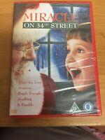 Miracle On 34th Street DVD Richard Attenborough 1994 Santa Claus Xmas Film NEW
