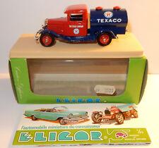 ELIGOR FORD V8 1934 CITERNE ESSENCE TEXACO TEXAS COMPANY PETROLEUM REF 1089 1/43
