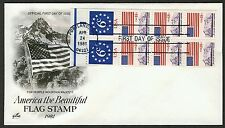 #1893a 6c + 18c America the Beautiful w/ Selvage, Art Craft FDC *ANY 4=FREE SHIP