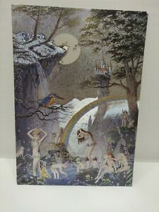Rainbow Glen by Jean and Ron Henry Dufex England Faerie Holographic Postcard HTF