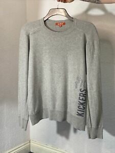 Kickers Size M Jumper Long Sleeve Grey Knitted
