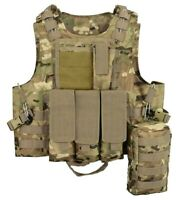 Quick Wire Release Molle Tactical Airsoft Vest Assault Mag Plate Carrier Hunting