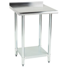 """Cmi 24"""" x 30"""" Stainless Steel Commercial Work Table with 2"""" Rear Upturn"""
