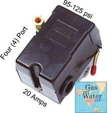 UNIVERSAL PRESSURE SWITCH 95-125 PSI FOR AIR COMPRESSOR 4 PORT 20Amp