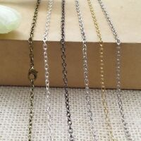 10pcs Metal Chains Necklace Chains With Lobster Clasps Jewellery Making Findings