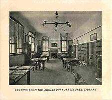 Interior View, Reading Room for Adults, Port Jervis Free Library, 1913