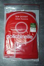 Slip Kangourou / ouvert Homme Polichinelle coton - rouge Taille 1 Vintage neuf