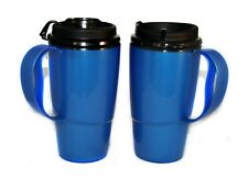 2 New Foam Insulated 16oz ThermoServ Travel Mugs Blue