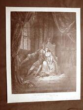 Incisione Gustave Dorè del 1890 Paolo Francesca lettura Divina Commedia Inferno